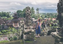 Woman traveling in Bali