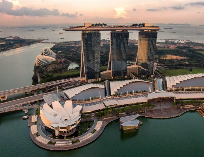 Marina Bay Sands; home to The Shoppes mall